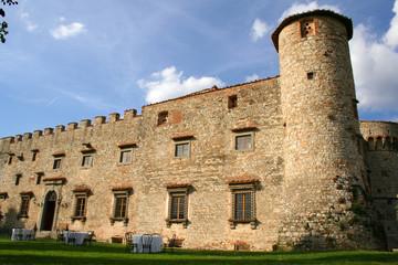 Castello di Meleto in der Toskana