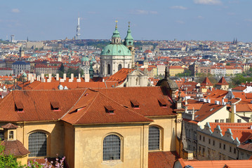 bird's eye vies to Prague