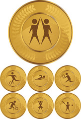 Athletic Gold Coins