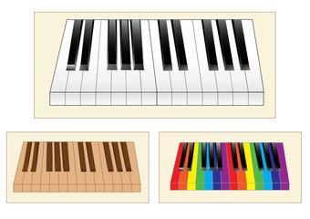 vector keyboard instrument