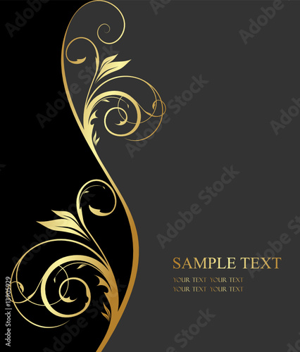 Quot Golden Floral Design Quot Stock Image And Royalty Free Vector