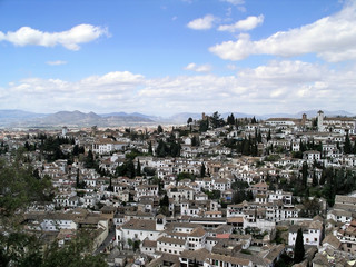 Granada - view of the Albaycin