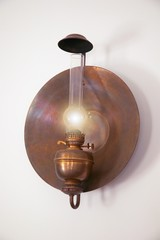 Old-fashioned oil lamp