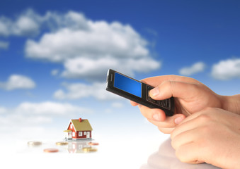 Mobile phone and new house.