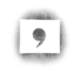 Stencil symbols in spray paint - comma