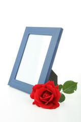 cadre photo et rose