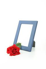 souvenir, cadre photo et rose