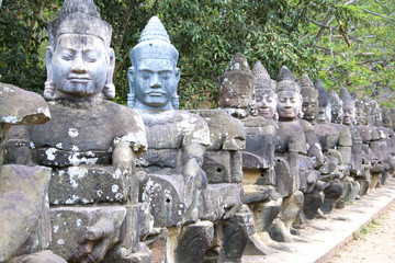 Fototapete - South Gate, Angkor Thom, Cambodia
