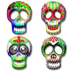 Teschio-Skull-Calaveras-Maschera-Mask-Masque