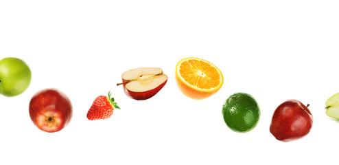 Curved fruit line