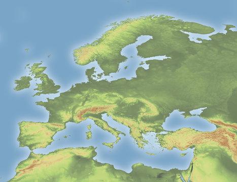 Europe Topographic
