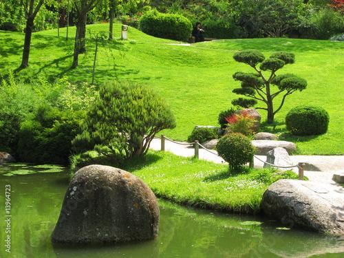 Jardin japonais photo libre de droits sur la banque d - Deco japonaise jardin ...
