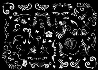Design Set als Vektor in Schwarz