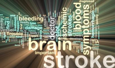 Stroke wordcloud glowing