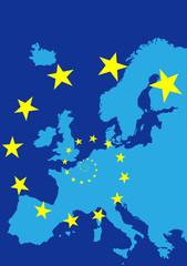 Europe with EU stars