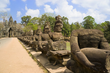 Fototapete - South Gate, Angkor Thom, Cambodia