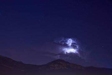 orage en montagne l'été