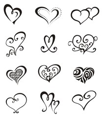 Hearts – Tattoo Set