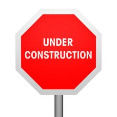 Stoppschild under construction frontal