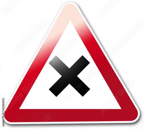 panneau routier croix photo libre de droits sur la banque d 39 images image 13984955. Black Bedroom Furniture Sets. Home Design Ideas