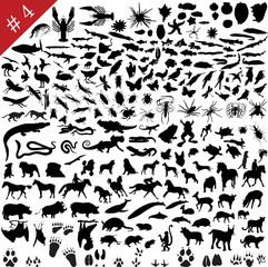 animals silhouette set #4