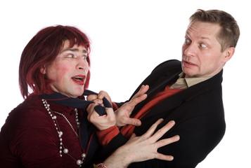 Man and woman quarrel