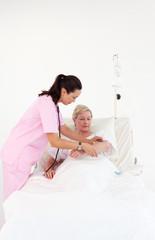 Nurse with a senior patient
