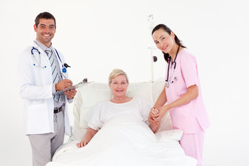 Patient recovering in a hospital