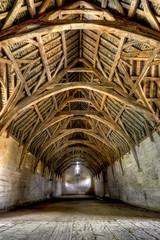 Interior of Tithe Barn, near Bath, England