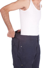 Handsame man losted his kilograms