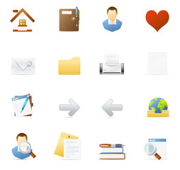 Vecto icon set - Internet and Blogging 1