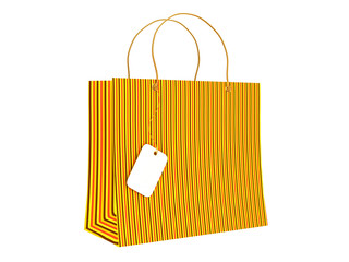 Shopping bag with a tag