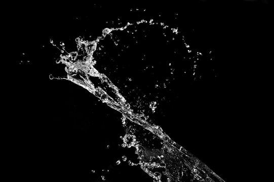 Stylish water splash. Isolated on white background