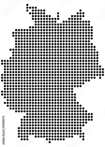 deutschland karte punkte deutschlandkarte