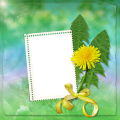 Fantasy background with Dandelion