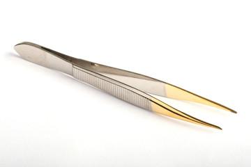 tweezers with golden tips