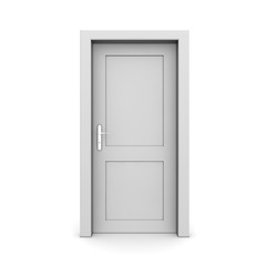 Closed Single Grey Door