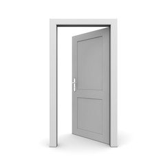 Open Single Grey Door