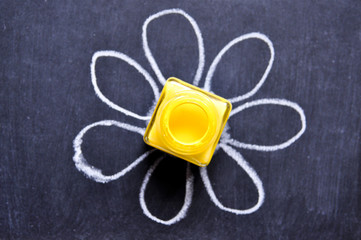 Gelbes Lack. Blume