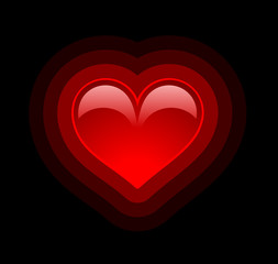 Background with glossy heart