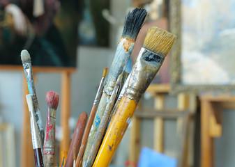 Artistic brushes.