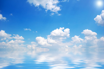 clouds over water 2