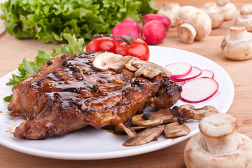 pork chop with mushrooms