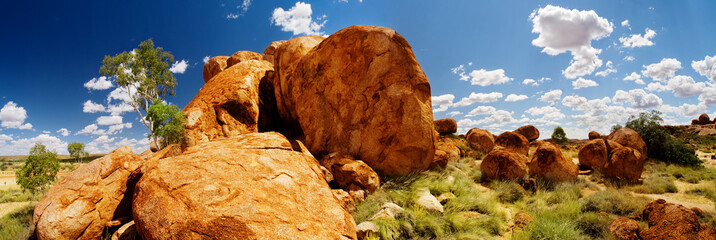 Printed kitchen splashbacks Australia Devils Marbles Panorama