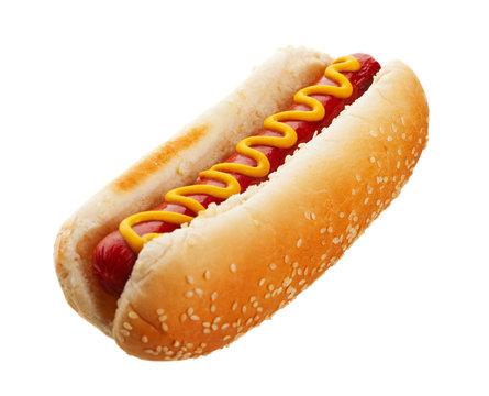 Hot Dog With Mustard