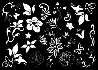 Blumen und Blätter Design