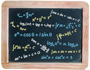 Maths Formulae on blackboard