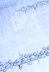 Garlands of blue roses