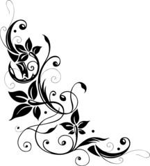 Blumenranke, Blüten filigran