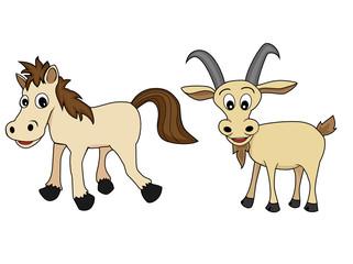 Chinese Zodiac Set 4 : Horse And Goat